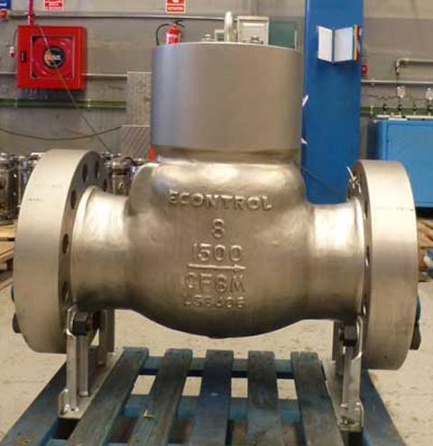 econtrol severe service check valve