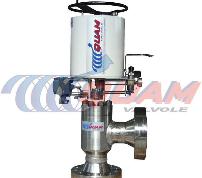 quam hydraulic actuated choke valve