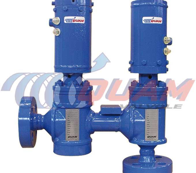 quam hydraulic liquid discharge valve