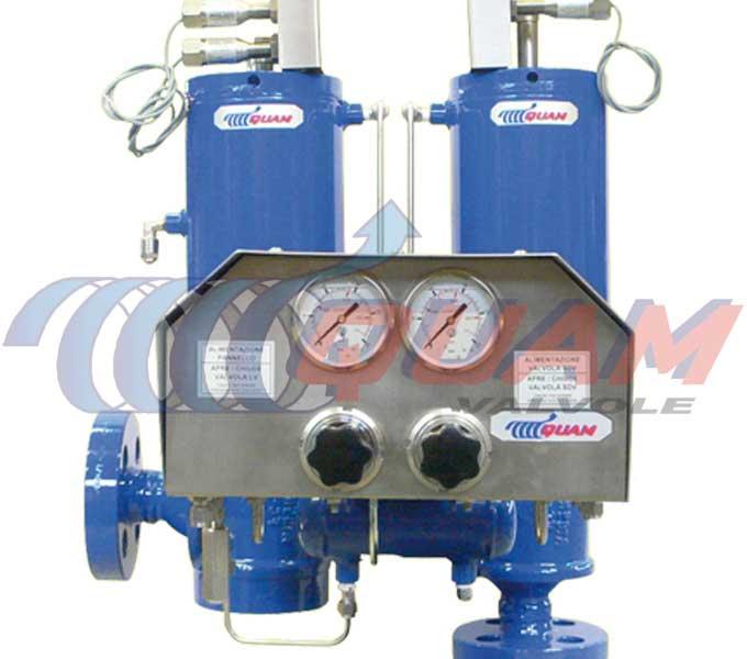 quam pneumatic liquid discharge valve