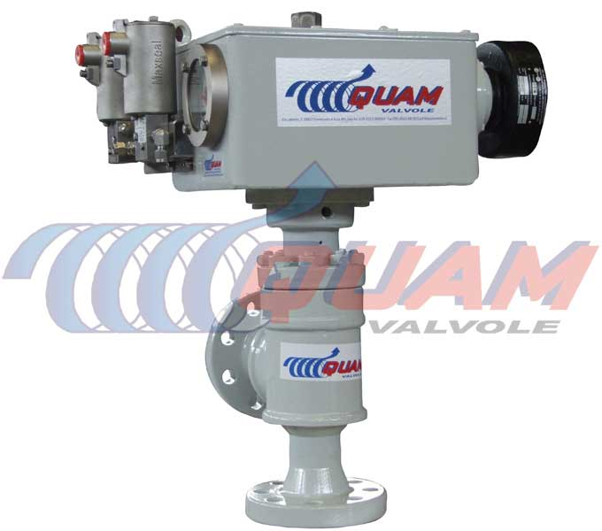 quam stepping actuated choke valve