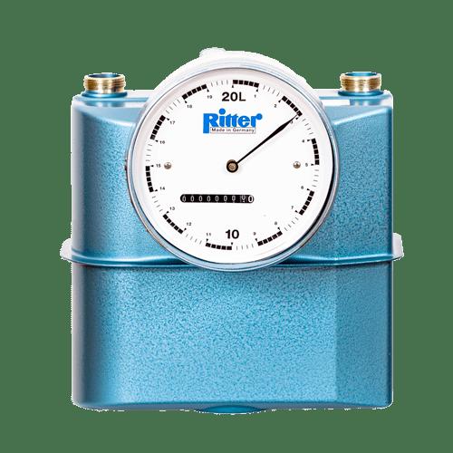 Ritter bellows-type gas meter