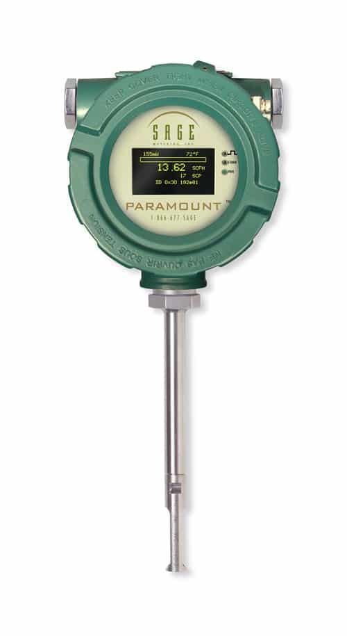 Sage Paramount Industrial Thermal Mass Flow Meter