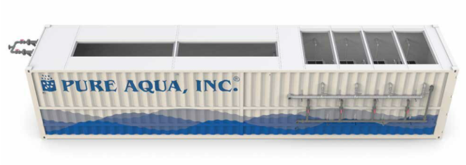 pure aqua wastewater treatment systems - containerised