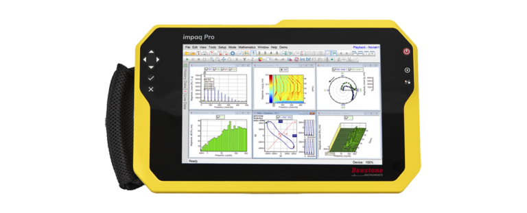 vibration instruments - portable sound and vibration analyzers - impaq Pro Portable Vibration Analyzer