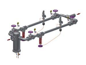 Valsteam pressure reducing station - rp45tw