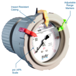 obs-b pressure gauge -center mount