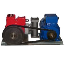 Fluxtronics belt driven pumping skid - fuel transfer system